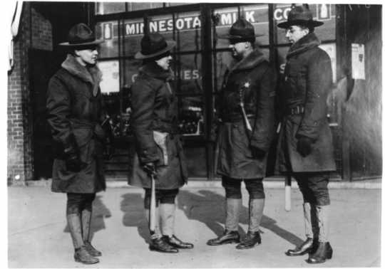 Black and white photograph of members of the Home Guard, December, 1917.