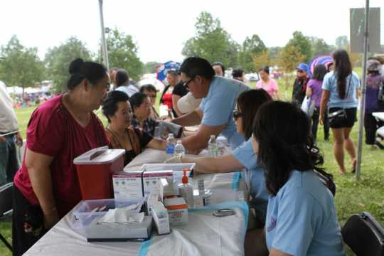 Color image of Hmong Health Care Professional Coalition Health Fair, 2013.