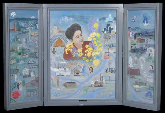 Painting celebrating the life of Ruth Tanbara