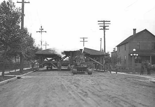 Moving old Village Market to Bennett Park, Hibbing.