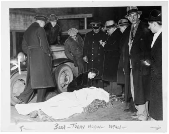 Scene of the murder of Walter W. Liggett