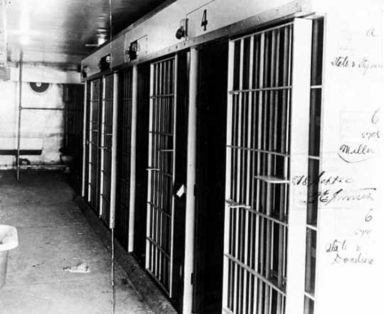 Cellblock in Duluth police station