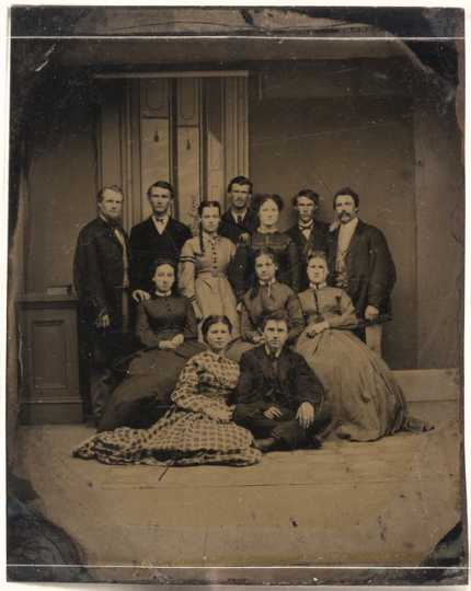 Group of students at Hamline University, Red Wing, c.1861