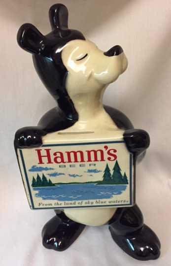 Photograph of Hamm's bear bank