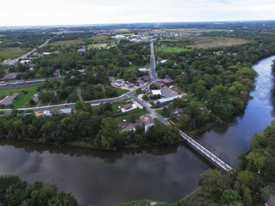 Aerial view of Hanover, 2015