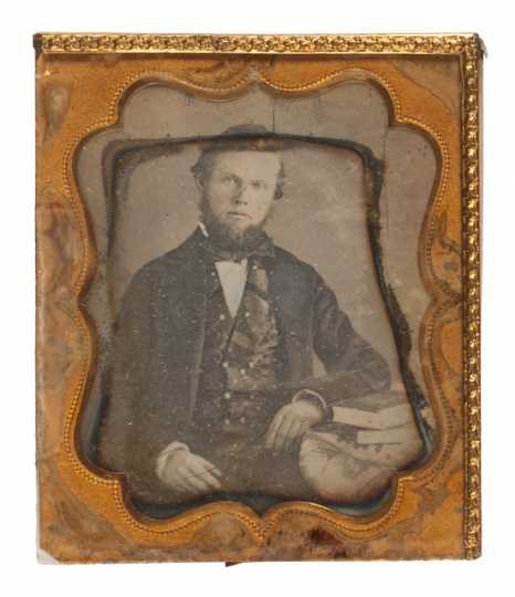 Daguerreotype of Hans Mattson ca. 1863.