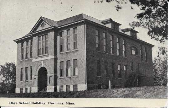 Photograph of the first Harmony High School