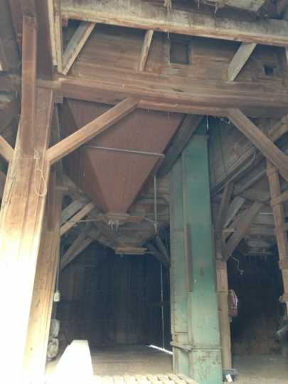 Interior of Harmony's 1879 McMichel Grain Elevator