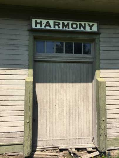 Photograph of Harmony Train Depot Freight Door