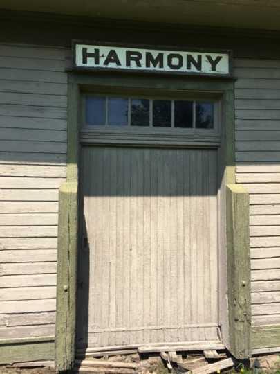 Photograph of Harmony Train Depot Freight Door