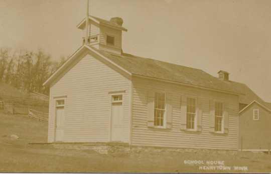 Photograph of Henrytown School, ca. 1905
