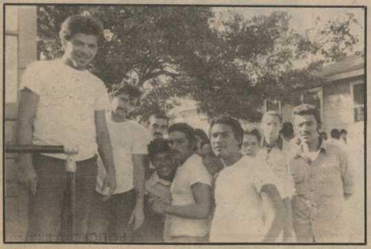 Cuban refugees inside Fort McCoy