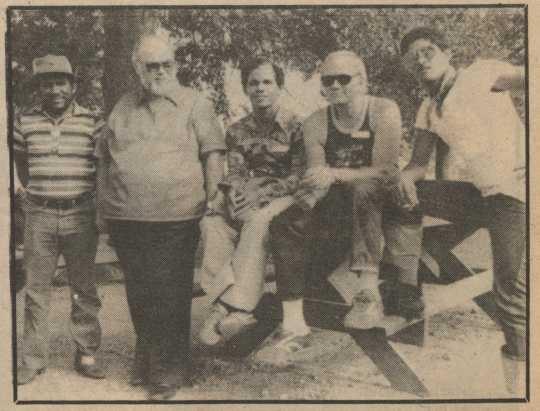 Ira Jones with Cuban refugees