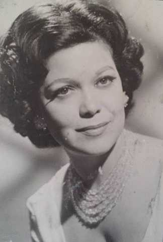 Black and white publicity photograph of Hilda Simms, c.1955.