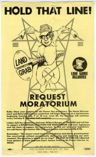 Anti-powerline poster