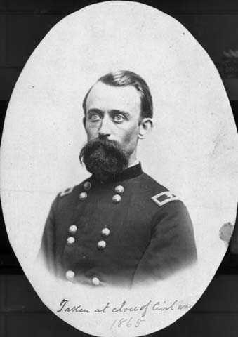 Black and white photograph of Lucius F. Hubbard, 1865.
