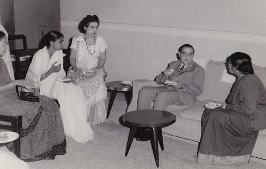 Hyman Berman with colleagues in India