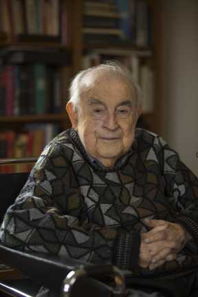 Hyman Berman at age ninety