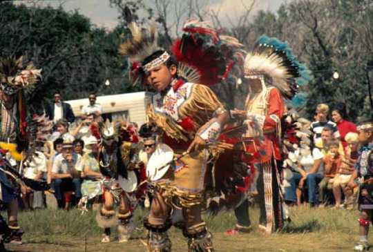 Child dancing at Shakopee Mdewakanton Sioux Community powwow