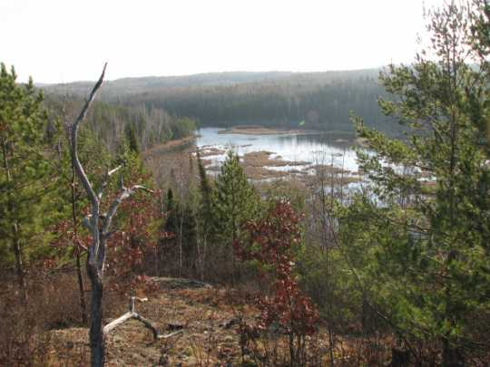 Color image of a view of Lake Vermilion. Photograph by Minnesota Department of Natural Resources Staff, October 30, 2007.