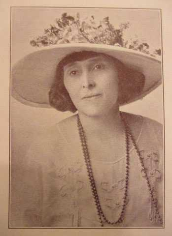 Black and white photograph of Nellie Francis, ca. 1924. Image is from Foster, Mary Dillon. Who's Who Among Minnesota Women (1924), p. 111.