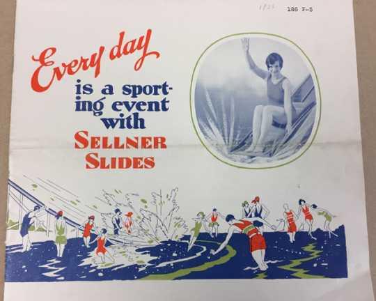 Water Toboggan Slide advertising brochure
