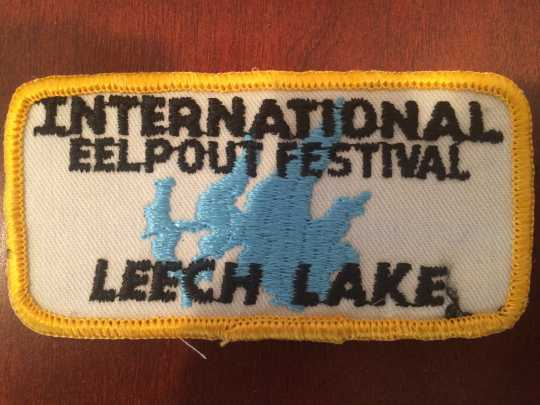 Embroidered patch created for the first International Eelpout Festival, 1980. From the private collection of Don Overcash, used with permission.