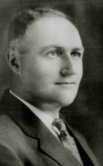 Black and white photograph of Dr. Henry Schmidt, ca. 1918.