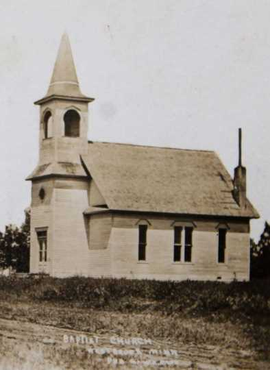 Black and white photograph of Calvary Baptist Church, 1901.