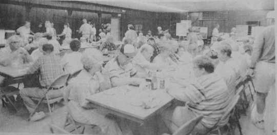 Lunch in the fire hall during Westbrook Hospital Days