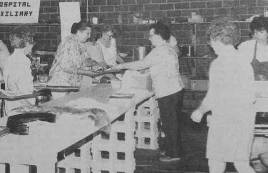Photograph of Hospital Days lunch in the Westbrook Fire Hall