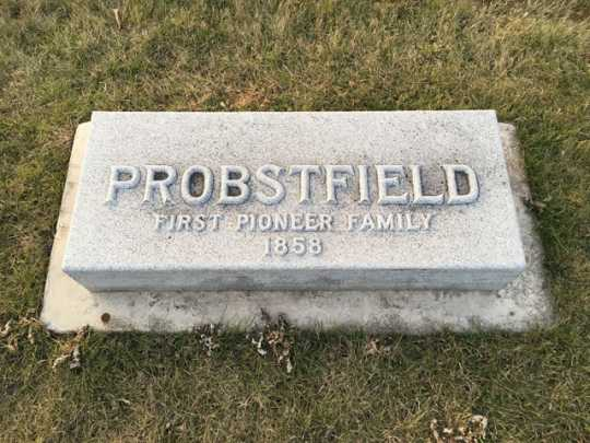 Probstfield family tombstone