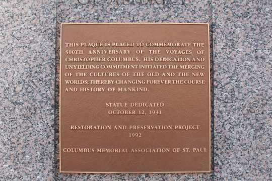 Christopher Columbus Memorial plaque