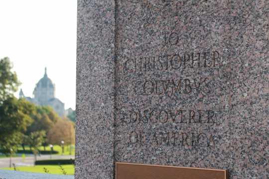 """Discoverer"" detail on the Columbus Memorial"