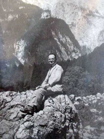 A young Kolthoff on vacation in the mountains, somewhere in Europe, ca. 1910s.