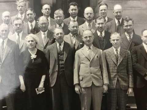 Izaak Kolthoff with University of Minnesota Chemistry Department faculty