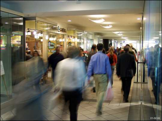 Color image of skyway in the Baker Building, Minneapolis, 2002.