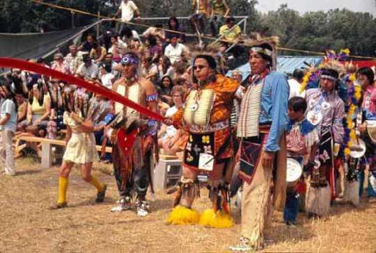 Arlo Haase and Amos Owen at Powwow in Shakopee