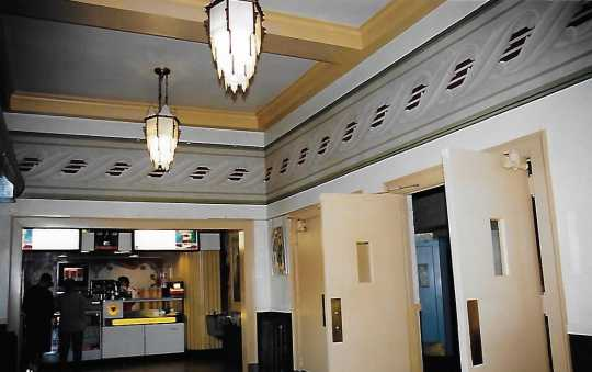 Color image of the lobby and concession area of Grand Theater, 2005.