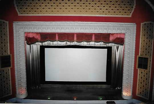 Color image of the screen and proscenium, Grand Theater, 2005.
