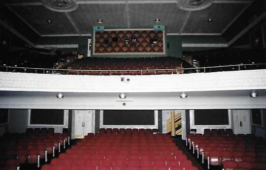 Color image of the Grand Theater showing seats and balcony, 2005.