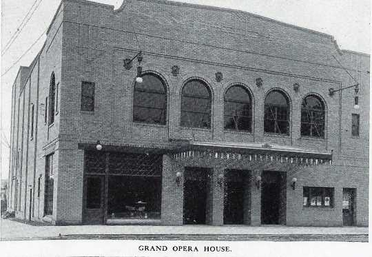 Black and white photograph of the Grand Theater, 1913.