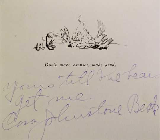 Cora Johnstone Best's autograph