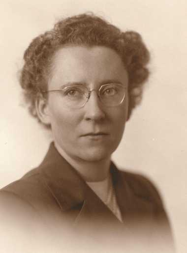Black and white photograph of Agnes Keenan, c.1945. From the Agnes Keenan Collection. St. Catherine University Archives, St. Paul.