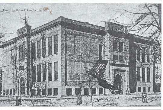 Postcard featuring Franklin Elementary School, designed by Keck in 1908.