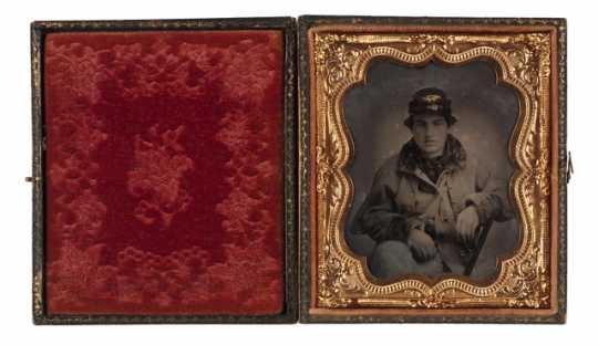 photograph of John Burns, a member of Company F, Ninth Minnesota Volunteer Infantry