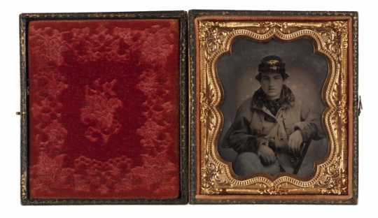 photograph of John Burns, a member of Company F, Ninth Minnesota Volunteer Infantry