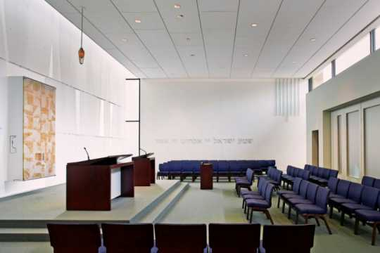Color image of the Description: interior of B'nai Israel Synagogue and Dan Abraham Cultural Center, c.2013.