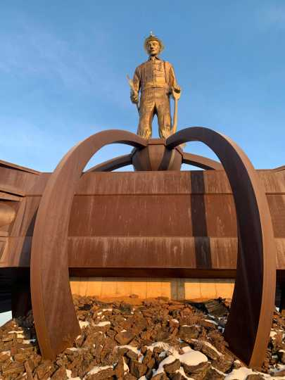 Front view of Iron Man Memorial