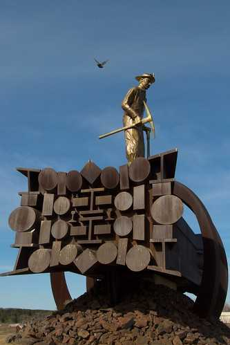Side view of the Iron Man Memorial, Chisholm